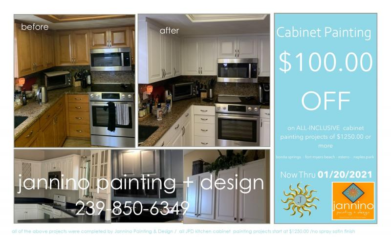 Cabinet Painting Special Bonita Springs Naples Fort Myers Beach ENDS Jan 20 2021