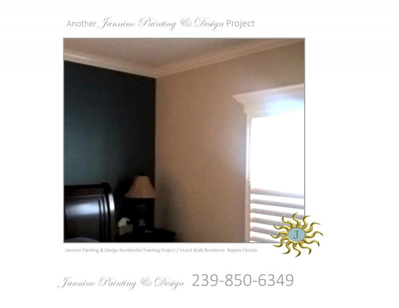 Accent Wall Painting by Affordable Experienced Sober Drug-Free Painter Naples FL