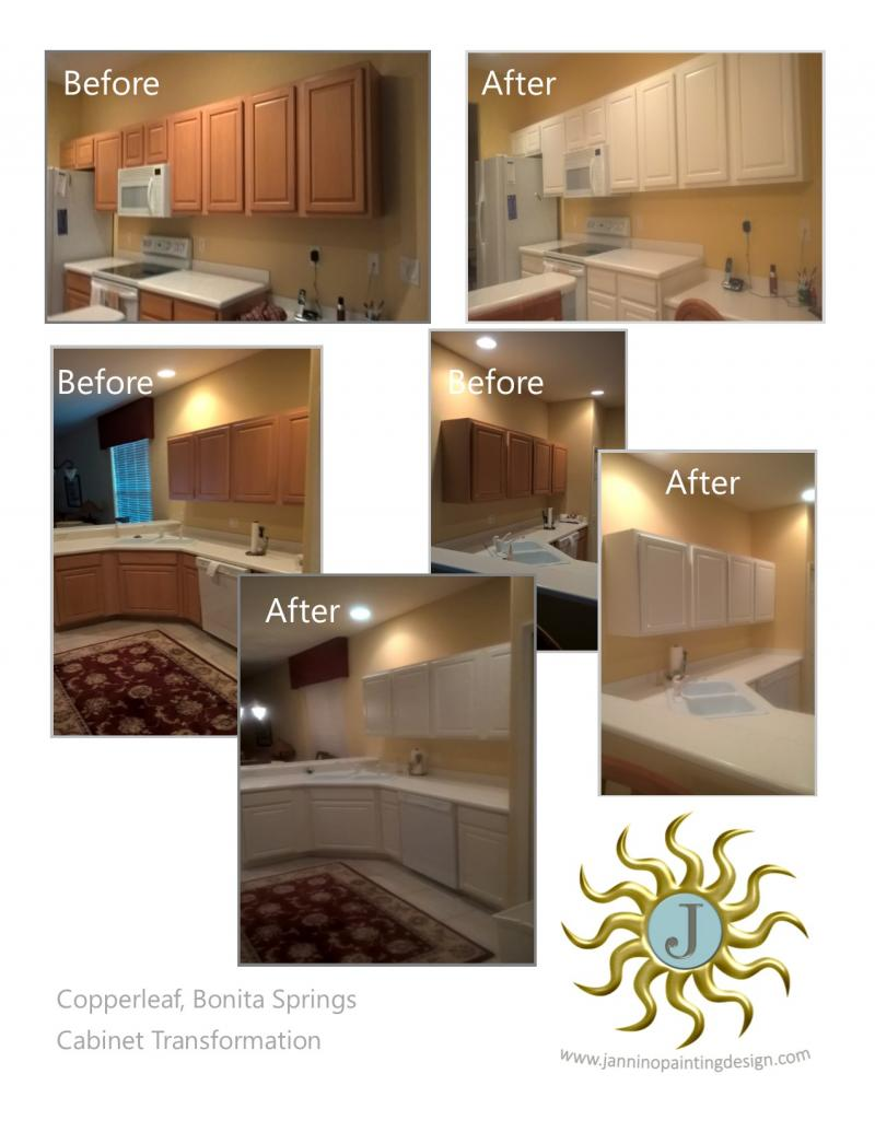 Jannino Painting and Design Copperleaf Bonita Springs Cabinet Painting