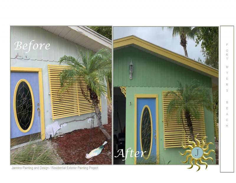 Fort Myers Beach Painting Services Exterior Interior Before and After