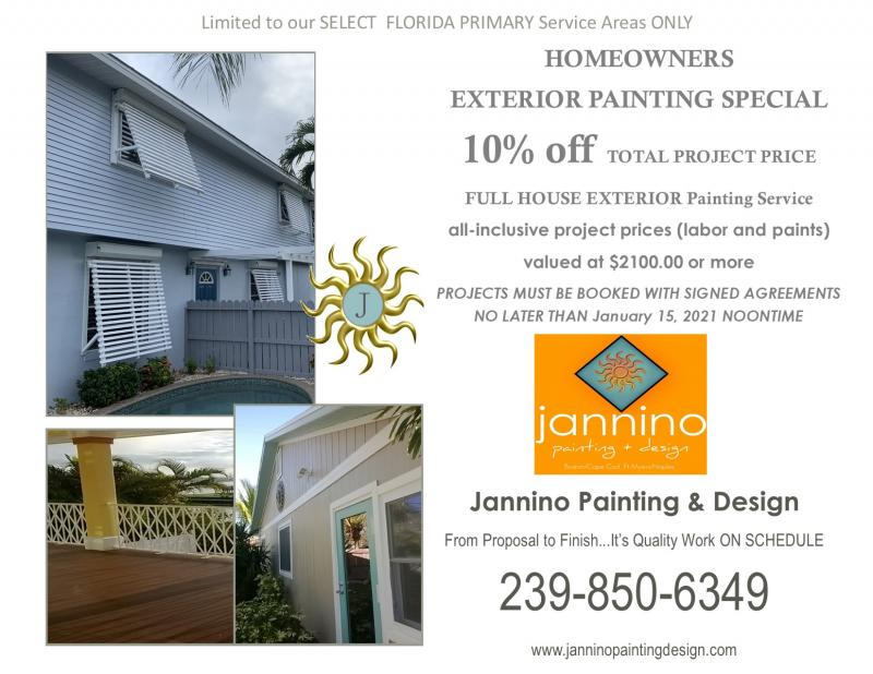 Exterior Painting Special Ends January 15 2021 Bonita Springs Fort Myers Beach