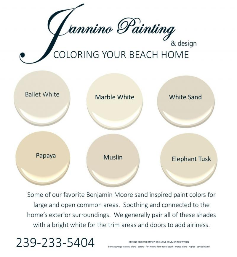 Best Paint Colors to sell your home in Naples Bonita Springs Fort Myers Beach FL