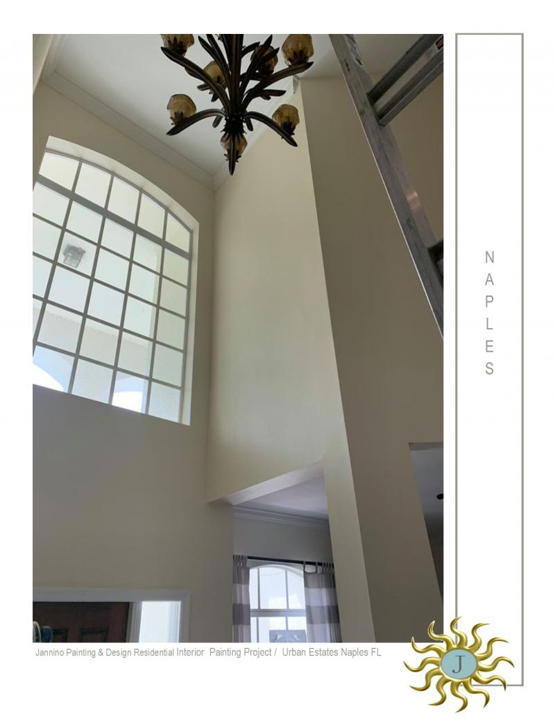 We Get Your High Ceilings Painted Naples Florida by Jannino Painting and Design